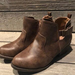 Women's Jellypop Brown ankle boots, Sz 8.5 M